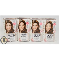 LOT OF 4 CLAIROL BROWN HAIR DYE