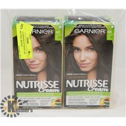 LOT OF 2 GARNIER NUTRISSE 400 DARK NEUTRAL BROWN
