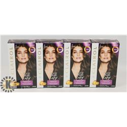 LOT OF 4 CLAIROL #4 BROWN HAIR DYE.