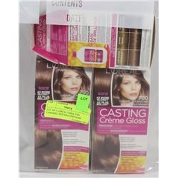 LOT OF 3 LOREAL PARIS #780 CARAMEL MOCHACCINO HAIR