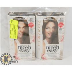 LOT OF 2 CLAIROL NICE N EASY 6A LIGHT ASH BROWN
