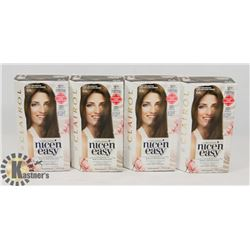 LOT OF 4 CLAIROL NICE N EASY BROWN HAIR DYE
