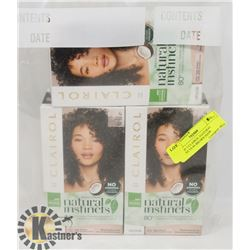 BAG OF 3 CLAIROL NATURAL INSTINCTS #4 BROWN HAIR