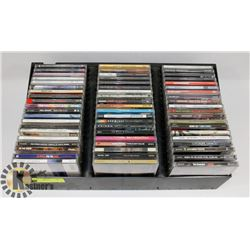 CASE OF 60 MUSIC CD'S