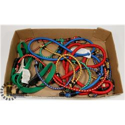 FLAT OF VARIOUS LENGTH BUNGEE CORDS