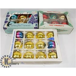3 BOX LOT OF RETRO MID CENTURY CHRISTMAS ORNAMENTS