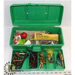 WOODSTREAM FISHING TACKLE BOX W/ TACKLE