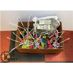 BOX OF LIGHTED DECORATIONS
