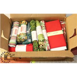 BOX OF NEW VARIOUS CRAFT FABRIC 30-40 SQ METERS