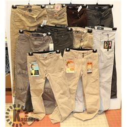 LOT OF 10 NEW WOMENS PANTS ALL SIZE 1