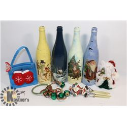 FLAT OF CHRISTMAS BOTTLES AND OTHER DIRECTIONS