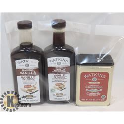 2 NEW BOTTLES OF WATKINS 325ML BAKING VANILLA &