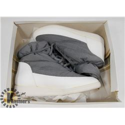 NEW GREY & WHITE GIRLS SIZE 6 WINTER SHOES
