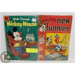 2-1950'S DISNEY COLLECTOR COMICS 10 CENT