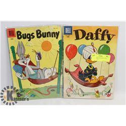 BUGS BUNNY AND DAFFY DUCK 1950'S COMICS