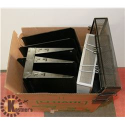 BOX OF OFFICE ORGANIZERS & FILE HOLDERS & TRAYS