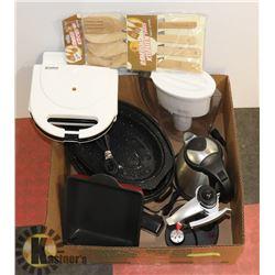 LARGE BOX W/KITCHENWARE - INCL. BRITA,