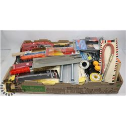 LARGE BOX OF NEW TOOLS, ACCESSORIES AND MORE