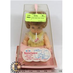 TEARIE DEARIE BABY DOLL WITH CASE AND