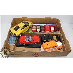 FLAT OF DIE CAST CARS.