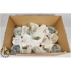 BOX OF 34 CANADIAN LEGION BAR WHISKEY GLASSES