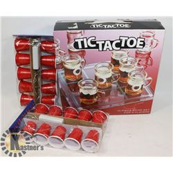 TIC TAC TOE DRINKING GAME WITH RED CUPS PARTY LIGH