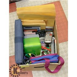BOX FULL OF OFFICE/SCHOOL SUPPLIES -