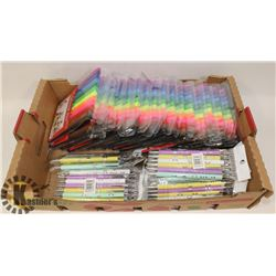BOX W/17 NEW PACKS OF COLORING MARKERS