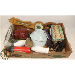 FLAT OF ASSORTED HOUSEHOLD MISCELLANEOUS