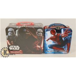 STAR WARS PUZZLE, SPIDERMAN LUNCH BOX