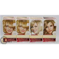 FOUR BOXED OF HAIR COLOUR