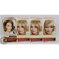 FOUR BOXES OF HAIR COLOUR