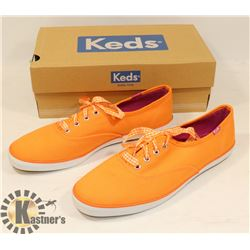 NEW LADIES SZ 8 ORANGE KEDS SHOES