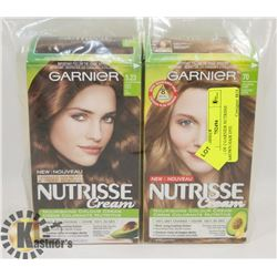 LOT OF 2 GARNIER NUTRISSE BROWN HAIR DYE