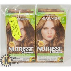 LOT OF 2 GARNIER NUTRISSE 6.34 AMBER LIGHT HONEY