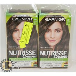LOT OF 2 GARNIER NUTRISSE 500 MEDIUM NATURAL BROWN