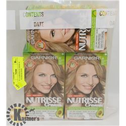LOT OF 3 GARNIER NUTRISSE 81 MEDIUM ASH BLONDE
