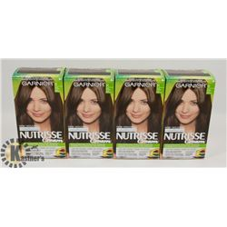 LOT OF 4 GARNIER NUTRISSE 51 MED ASH BROWN