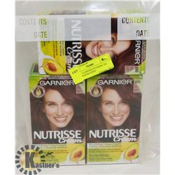 LOT OF 3 GARNIER NUTRISSE 550 MEDIUM BURGUNDY