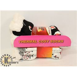 2PK LADIES HEAT WAVE SLIPPER SOCKS