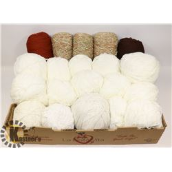 FLAT OF ASSORTED YARN