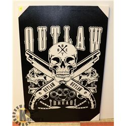 OUTLAW STRETCHED CANVAS ART