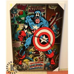 CAPTAIN AMERICA STRETCHED CANVAS ART