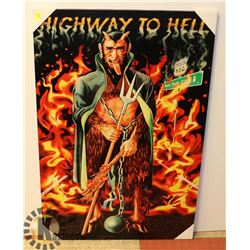 HIGHWAY TO HELL CANVAS ART