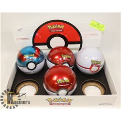 NEW SEALED LOT OF 4 POKÉMON POKE BALLS FILLED W/