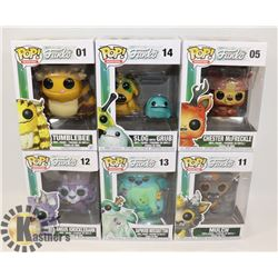 LOT OF 6 FUNKO POP MONSTERS COLLECTION