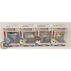 LOT OF 4 FUNKO POP YU-GI-OH CHARACTERS