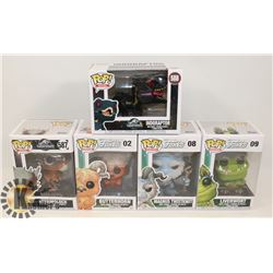 LOT OF 5 FUNKO POP JURASSIC WORLD & MONSTERS