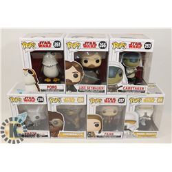 LOT OF 7 FUNKO POP STAR WARS LUKE SKYWALKER,
