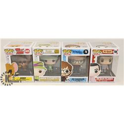 LOT OF 4 FUNKO POP MR. BEAN, ED SHEERAN, QUEEN